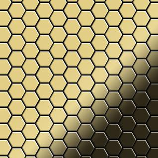 Mosaik Fliese massiv Metall Messing gewalzt in gold 1, 6mm stark ALLOY Honey-BM 0, 92 m2