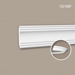 Eckleiste PROFHOME 150199F Zierleiste Flexible Leiste Stuckleiste Modernes Design weiß 2 m