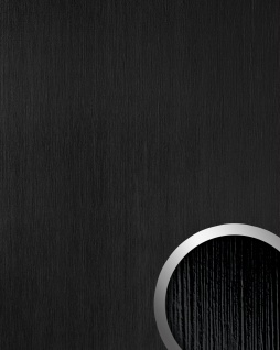 Wandpaneel Kunststoff Relief-Struktur WallFace 15769 TOUCH Design Wandverkleidung selbstklebend schwarz | 2, 60 qm