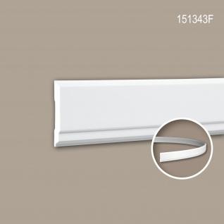 Wand- und Friesleiste PROFHOME 151343F Stuckleiste Flexible Leiste Zierleiste Modernes Design weiß 2 m