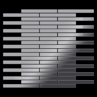 Mosaik Fliese massiv Metall Edelstahl hochglänzend in grau 1, 6mm stark ALLOY Avenue-S-S-M 0, 74 m2 - Vorschau 3