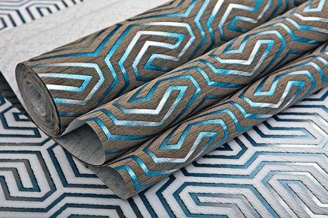 Grafik Tapete EDEM 84114BR92 Vliestapete leicht strukturiert mit Ornamenten und metallischen Akzenten braun quarz-grau perl-enzian silber 10, 65 m2 - Vorschau 5