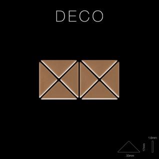 Mosaik Fliese massiv Metall Titan hochglänzend in kupfer 1, 6mm stark ALLOY Deco-Ti-AM 0, 92 m2 - Vorschau 2
