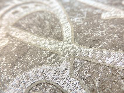 Barock Tapete ATLAS CLA-597-9 Vliestapete geprägt mit grafischem Muster glänzend braun perl-gold braun-grau 5, 33 m2 - Vorschau 2