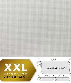 EDEM 80375BR60 Vliestapete überstreichbar Stoff Textur geometrische Textil-Fasern Struktur weiß 1 Kart 6 Rollen 159 qm - Vorschau 2