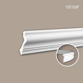 Eckleiste PROFHOME 150100F Zierleiste Flexible Leiste Stuckleiste Neo-Klassizismus-Stil weiß 2 m