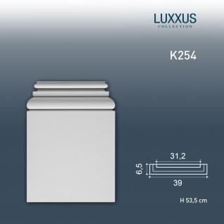 Pilaster Stuck Orac Dekor K254 LUXXUS Sockel Stuck Dekor Element aus leichtem stabilem Hartschaum weiß   53 cm - Vorschau 1
