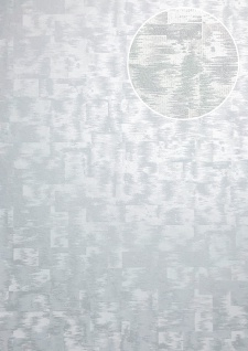 Ton-in-Ton Tapete ATLAS XPL-593-8 Vliestapete strukturiert mit abstraktem Muster schimmernd grau hell-grau licht-grau weiß-aluminium 5, 33 m2