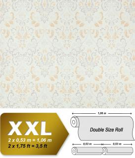 Vliestapete Barock-Tapete XXL EDEM 966-24 Muster Ornament klassisch Tapete beige creme weiß | 10, 65 qm