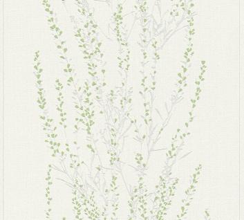 Blumen Tapete Profhome 372672-GU Vliestapete leicht strukturiert mit floralen Ornamenten matt grün grau 5, 33 m2