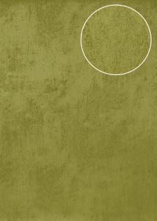 Uni Tapete Atlas TEM-5113-6 Vliestapete glatt in Spachteloptik und Metallic Effekt grün apfel-grün blass-grün gold 7, 035 m2