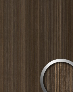Wandpaneel Holz Optik WallFace 19027 WENGE WOOD Holzdekor naturgetreue Haptik Wandverkleidung selbstklebend dunkelbraun 2, 60 qm