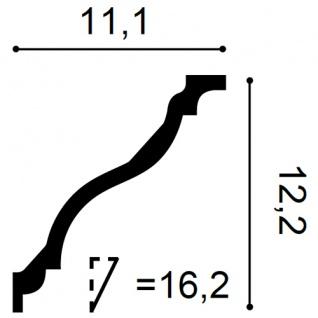 Dekor Profil Orac Decor C333F LUXXUS flexible Leiste Eckleiste Zierleiste Decken Stuck Gesims Dekorleiste | 2 Meter - Vorschau 2