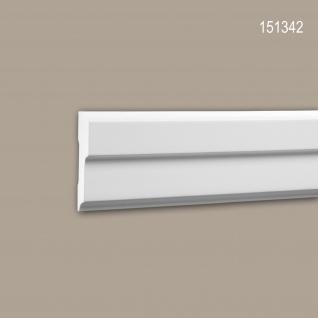 Wand- und Friesleiste PROFHOME 151342 Stuckleiste Zierleiste Wandleiste Modernes Design weiß 2 m