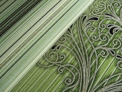Streifen Tapete EDEM 097-25 Designer Tapete prunkvolle modern und edel grün hellgrün gold silber schwarz - Vorschau 3