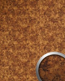 Wandverkleidung selbstklebend kupfer braun WallFace 17277 DECO VINTAGE Wandpaneel Metall-Rost-Optik Design 2, 60 qm