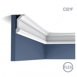 Dekor Profil Orac Decor C321F LUXXUS flexible Leiste Eckleiste Zierleiste Decken Stuck Gesims Dekorleiste 2 Meter