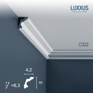 Stuckleiste Dekor Profil Orac Decor C322 LUXXUS Eckleiste Zierleiste Decken Wand Stuck Gesims Dekorleiste | 2 Meter