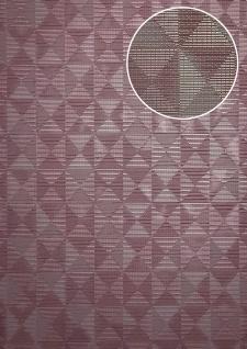 Ton-in-Ton Tapete ATLAS XPL-592-5 Vliestapete strukturiert mit geometrischen Formen schimmernd violett pastell-violett erika-violett grau-beige 5, 33 m2