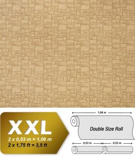 Stein Vliestapete EDEM 922-25 Luxus Präge dekor mauer-stein-optik kakao-braun hell-braun 10, 65 qm