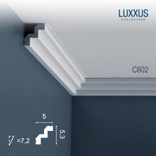 Stuck Zierleiste Orac Decor C602 LUXXUS Eckleiste leiste Dekor Leiste Decken Gesims Profilleiste 2 Meter