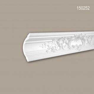 Eckleiste PROFHOME 150252 Zierleiste Stuckleiste Rokoko Barock Stil weiß 2 m