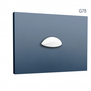 Stuckgesims von Orac Decor G78 Lily Ulf Moritz LUXXUS Zierelement Stuckprofil klassisches Wand Dekor Element weiß