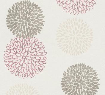 Blumen Tapete Profhome 372644-GU Vliestapete leicht strukturiert mit floralen Ornamenten matt braun rot beige 5, 33 m2
