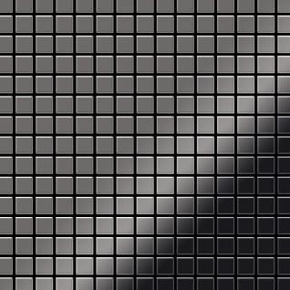 Mosaik Fliese massiv Metall Titan hochglänzend in dunkelgrau 1, 6mm stark ALLOY Mosaic-Ti-SM 1, 04 m2
