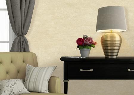 Uni Tapete Atlas TEM-5114-4 Vliestapete strukturiert im Shabby Chic Stil schimmernd gold elfenbein perl-beige creme-weiß 7, 035 m2 - Vorschau 3