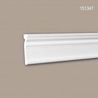 Wand- und Friesleiste PROFHOME 151347 Stuckleiste Zierleiste Wandleiste Neo-Klassizismus-Stil weiß 2 m