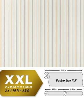 Streifen Vliestapete EDEM 967-24 XXL Streifen-Muster hochwertige Designer Tapete beige creme weiß 10, 65 qm