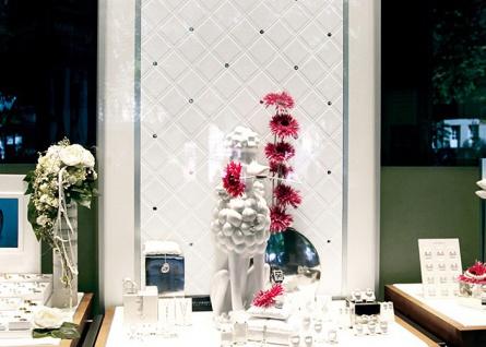 Wandpaneel Leder Design Glas Kristallen Dekor WallFace 15044 CRISTAL ROMBO Wandplatte selbstklebend weiß | 2, 60 qm - Vorschau 3