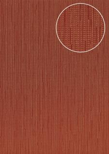 Edle Uni Tapete Atlas COL-497-7 Vliestapete glatt mit Streifen schimmernd rot braun-rot wein-rot 5, 33 m2