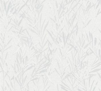 Blumen Tapete Profhome 367121-GU Vliestapete leicht strukturiert mit Natur-Mustern matt grau weiß 5, 33 m2