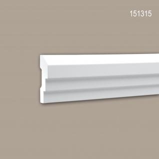 Wand- und Friesleiste PROFHOME 151315 Stuckleiste Zierleiste Wandleiste Neo-Klassizismus-Stil weiß 2 m