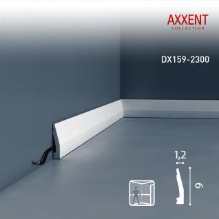 Sockelleiste mit Kabelkanal Orac Decor DX159-2300 AXXENT Wandleiste multifunktional Kabel Kanal Leiste | 2, 30 Meter