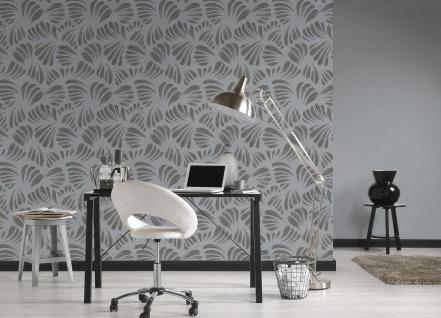 Grafik Tapete Profhome 367035-GU Vliestapete leicht strukturiert mit grafischem Muster matt schwarz grau silber 5, 33 m2 - Vorschau 3