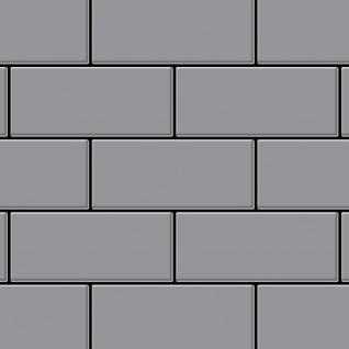 Mosaik Fliese massiv Metall Edelstahl matt in grau 1, 6mm stark ALLOY Subway-S-S-MA 0, 58 m2