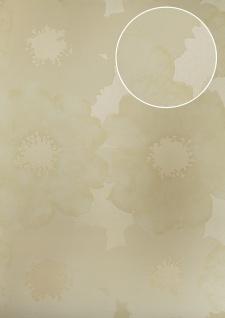 Blumen Tapete Atlas TEM-5108-2 Vliestapete geprägt im Retro-Stil schimmernd elfenbein creme-weiß perl-weiß beige 7, 035 m2