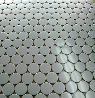 Mosaik Fliese massiv Metall Edelstahl matt in grau 1, 6mm stark ALLOY Penny-S-S-MA 0, 88 m2 - Vorschau 4