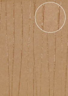 Streifen Tapete Atlas COL-566-1 Vliestapete glatt Design schimmernd braun blass-braun creme-weiß 5, 33 m2
