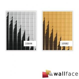 Wandpaneel Wandverkleidung WallFace 10582 M-Style Design Metall Mosaik Dekor selbstklebend spiegelnd gold | 0, 96 qm - Vorschau 3