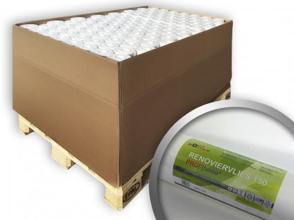 Renoviervlies PROFHOME 150 g Malervlies Anstrich-Vlies glatte überstreichbare Vliestapete weiß | 1 Pal. 1500 qm 80 Rol.
