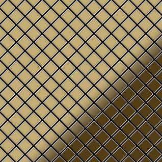 Mosaik Fliese massiv Metall Titan hochglänzend in gold 1, 6mm stark ALLOY Diamond-Ti-GM 0, 91 m2