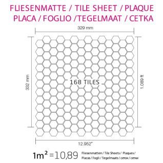 Mosaik Fliese massiv Metall Titan hochglänzend in kupfer 1, 6mm stark ALLOY Honey-Ti-AM 0, 92 m2 - Vorschau 4
