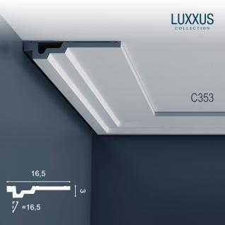 Dekor Profil Orac Decor C353 LUXXUS Eckleiste Zierleiste Decken Stuck Leiste Dekorleiste Gesims Profilleiste | 2 Meter - Vorschau 1