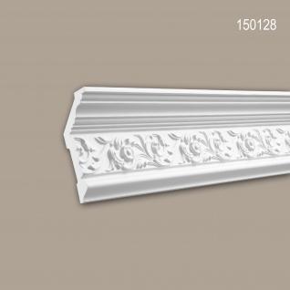 Eckleiste PROFHOME 150128 Zierleiste Stuckleiste Zeitloses Klassisches Design weiß 1, 97 m