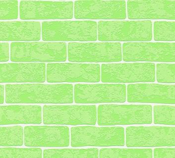 Stein Kacheln Tapete Profhome 359813-GU Vliestapete leicht strukturiert in Steinoptik matt grün weiß 5, 33 m2