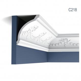 Stuckleiste Orac Decor C218 LUXXUS Zierleiste Eckleiste Dekorprofil Stuckprofil Wand Dekor Leiste klassisch 2 Meter